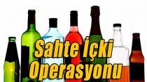 Sahte içki imalathanesine baskın!
