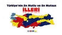 Türkiye'nin en mutsuz şehirleri!