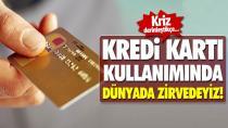 Kredi kartı kullanımında dünyada zirvedeyiz!