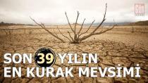 Türkiye son 39 yılın en kurak mevsimini geçirdi