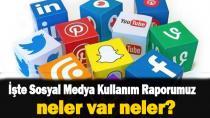 Türkiye'nin sosyal medya kullanım raporu!