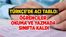 Türkçe'de acı tablo: Öğrenciler okuma ve yazmada sınıfta kaldı