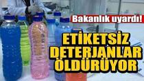 Etiketsiz deterjanlarda büyük tehlike...
