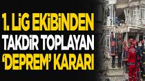 Adana Demirspor'dan takdir toplayan 'deprem' kararı