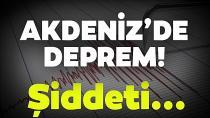 Deprem Adana'da ve çevre illerde hissedildi...