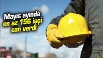 Mayıs ayında  en az 156 işçi can verdi...