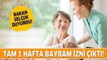 Yaşlı ve engelli vatandaşlara 1 haftalık bayram izni