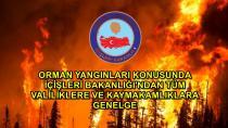 Bakanlıktan 'Orman Yangınları' genelgesi...