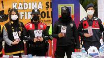 Kadına şiddete karşı maskeli uyarı...