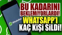 Türkiye'de kaç kişi WhatsApp'ı sildi?