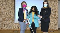 10 Görme Engelli Öğrenciye Baston Hediye Edildi
