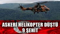 Askeri helikopter düştü! Acı haber geldi, şehitlerimiz var...