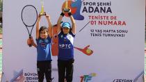 Büyükşehir'den çocuk tenisçilere destek!