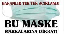 Bu maskeleri kullanmayın!  Bakanlık araştırdı, liste yayınladı. İşte o şirketler...