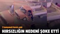 Eşiyle barışabilmek için 2 kamyonet çaldı!
